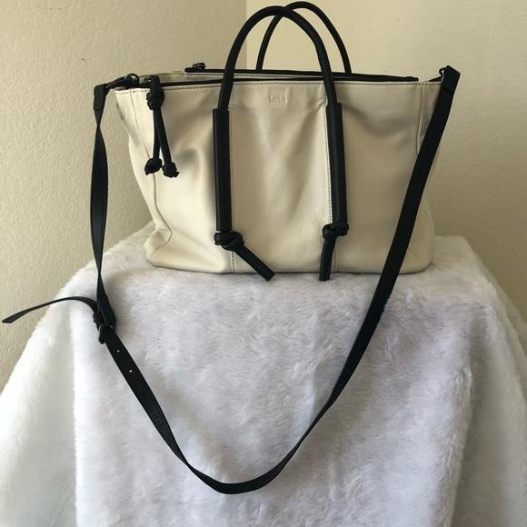Kooba Handbags - Kooba White Bag w/Black Handles & Straps